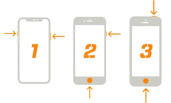 아이폰 버튼 위치 설명